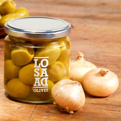 2 Jars of Gordal Olives Stuffed with Cocktail Onions