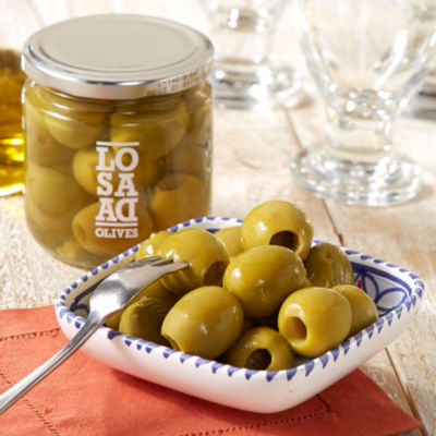 2 Jars of Jumbo Gordal Olives - Pitless
