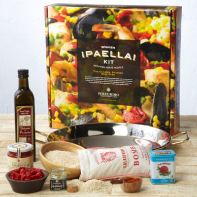 Deluxe Paella Kit with Stainless Pan by Peregrino