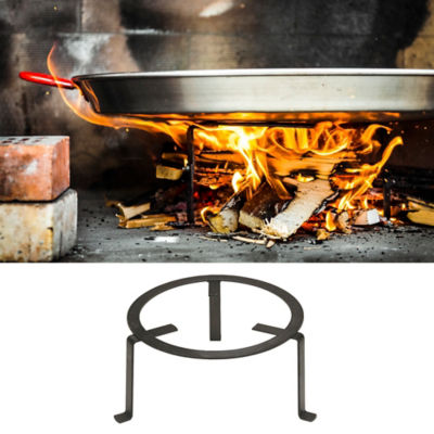 Small Forged Paella Tripod for Outdoor Cooking - (For 12-15 Inch Pans)