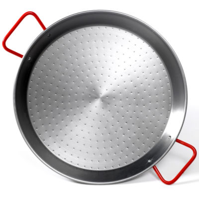 Extra Large 26 Inch Traditional Steel Paella Pan