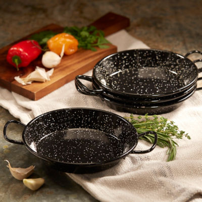 Set of 4 Mini Paella Pans for Tapas