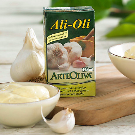 3 Packages of Alioli Garlic Mayonnaise with Extra Virgin Olive Oil