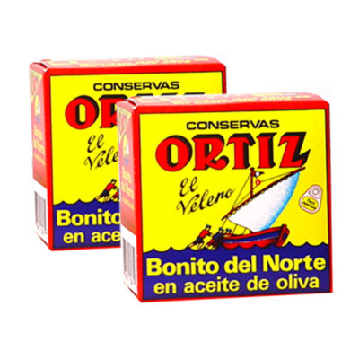 2 Tins of Bonito del Norte Tuna in Olive Oil by Ortiz