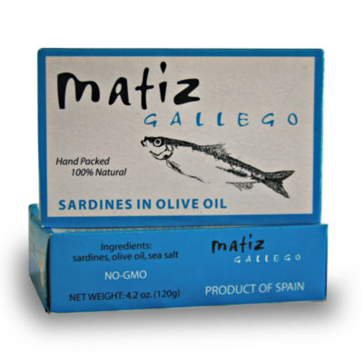 4 Tins of Sardines in Olive Oil by Matiz Gallego