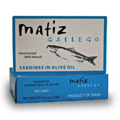 3 Tins of Sardines in Olive Oil by Matiz Gallego