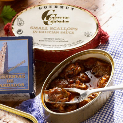 2 Tins of Zamburinas by Conservas de Cambados - Premium Scallops