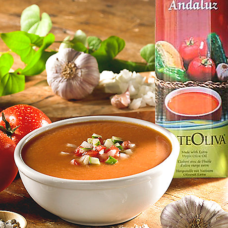 Gazpacho Andaluz with Extra Virgin Olive Oil