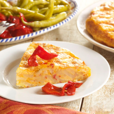 2 Premium Tortilla Española Potato Omelets with Piquillo Peppers