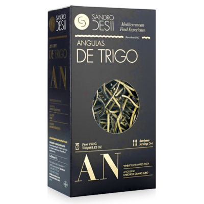 Angulas de Trigo Pasta with Squid Ink by Sandro Desii