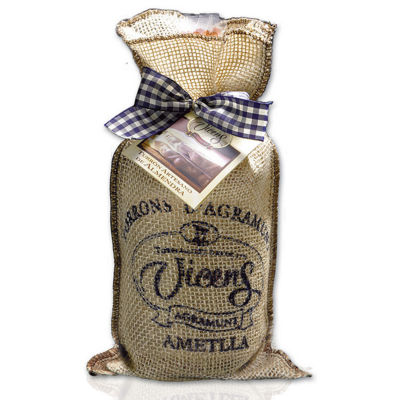 Classic Almond Brittle Turrón Rounds in Gift Bag by Vicens