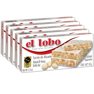5 Boxes of Alicante Turron 'Duro' by El Lobo