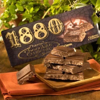 2 Packages of Turron Chocolate Crujiente Candy by 1880