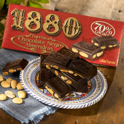 Dark Chocolate Almond Turron Candy by 1880 - 10.5 Ounces