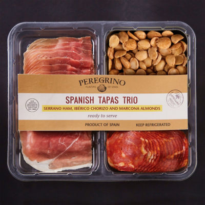 Tapas Tasting Tray with Jamón, Ibérico Chorizo and Almonds