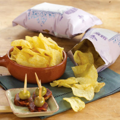 'San Nicasio' Potato Chips Cooked in Extra Virgin Olive Oil (2 Bags)