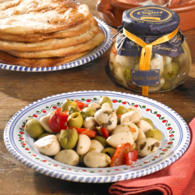 2 Jars of Sweet White Garlic with Olives, Peppers and Capers