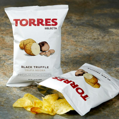 6 Packages of Black Truffle Potato Chips by Torres