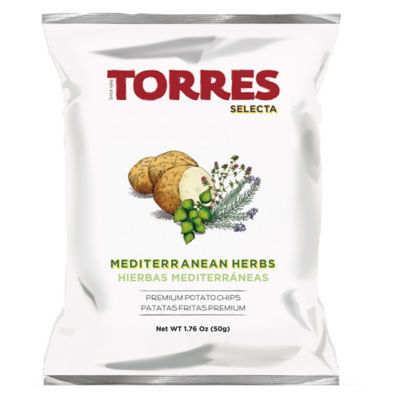 6 Packages of Mediterranean Herb Potato Chips by Torres