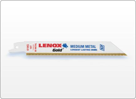 LENOX Gold® METAL RECIPROCATING SAW BLADES