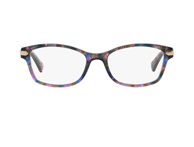861a4c88c779 HC6065: Shop Coach Pink/Purple Rectangle Eyeglasses at LensCrafters