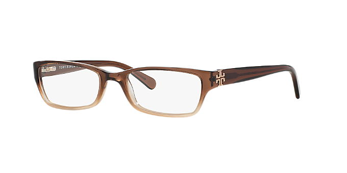 TY2003: Shop Tory Burch Brown/Tan Rectangle Eyeglasses at LensCrafters
