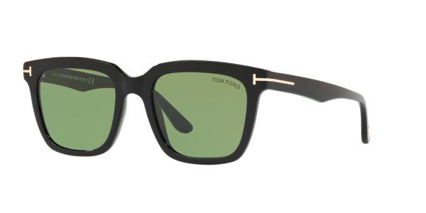 ce798a47f8 FT0646 53: Ver Gafas de sol rectangulares Tom Ford Black en LensCrafters