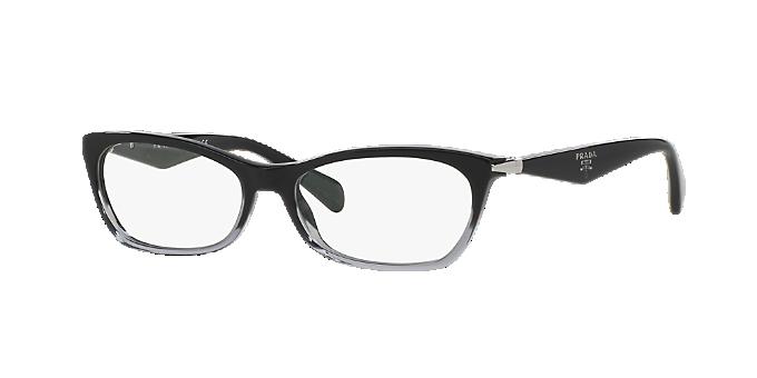 PR 15PV: Shop Prada Black Geometric Eyeglasses at LensCrafters