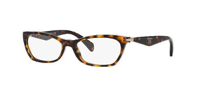 b1b6baceba0de PR 15PV  Shop Prada Tortoise Geometric Eyeglasses at LensCrafters