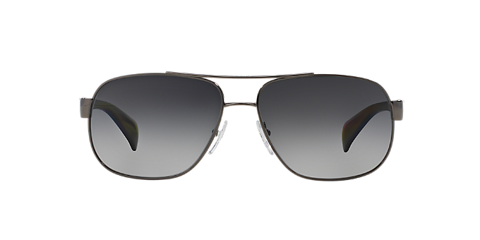 9e2fa3d327 PR 52PS  Shop Prada Silver Gunmetal Grey Pilot Sunglasses at ...