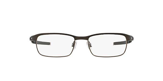 OX3184 TINCUP: Shop Oakley Silver/Gunmetal/Grey Rectangle Eyeglasses ...