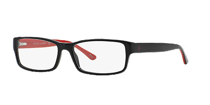 774f6ee177da PH2065: Shop Polo Ralph Lauren Black Rectangle Eyeglasses at ...