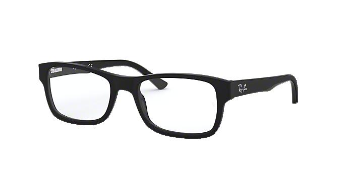 0267cf8101 RX5268  Shop Ray-Ban Black Rectangle Eyeglasses at LensCrafters