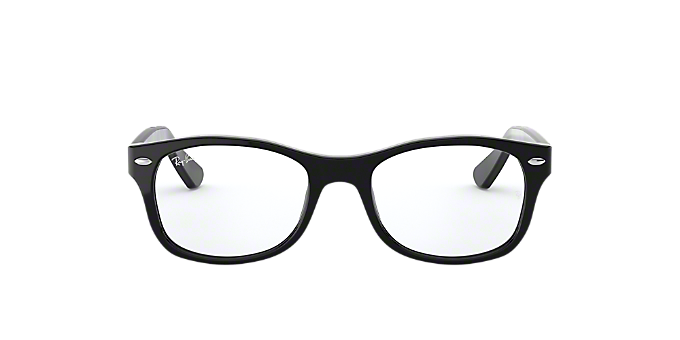 RY1528: Shop Ray-Ban Jr Black Square Eyeglasses at LensCrafters