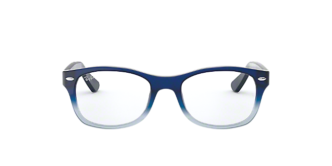 RY1528: Shop Ray-Ban Jr Blue Square Eyeglasses at LensCrafters