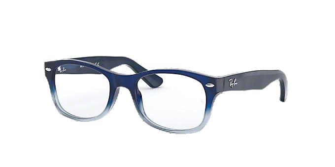 0efec79c571 RY1528  Shop Ray-Ban Jr Blue Square Eyeglasses at LensCrafters