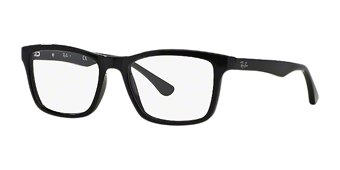 af2cc9f220e RX5279  Shop Ray-Ban Black Square Eyeglasses at LensCrafters