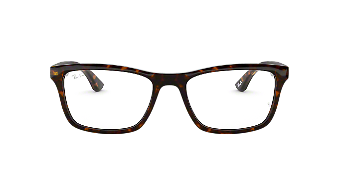 RX5279: Shop Ray-Ban Brown/Tan Square Eyeglasses at LensCrafters