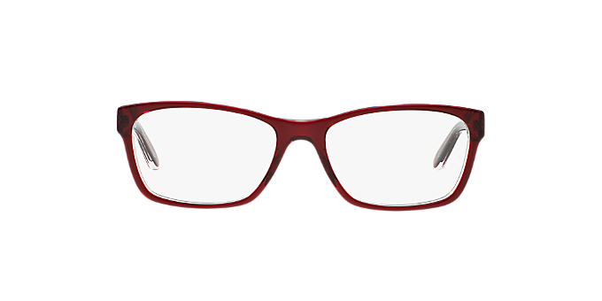 RA7039: Shop Ralph Red/Burgundy Square Eyeglasses at LensCrafters