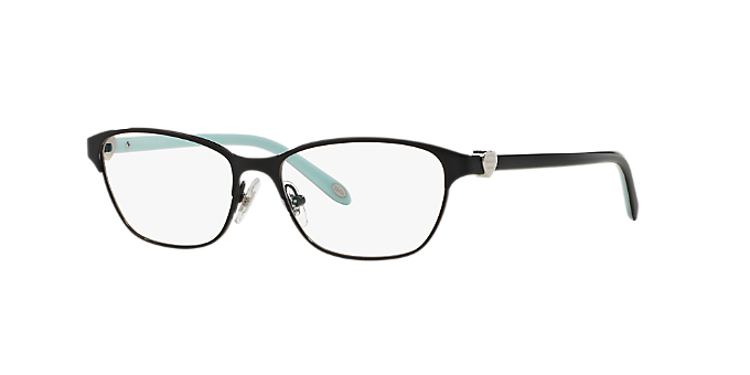 Slim black metal temples are lined in signature Tiffany blue.  https   s7d9.scene7.com is image Lenscrafters  70354dc7de