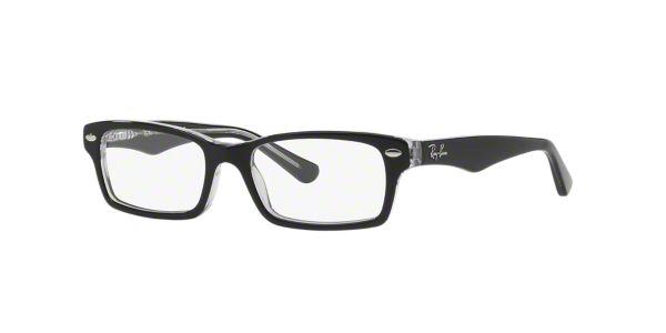 9ca8fb75ff RY1530  Shop Ray-Ban Jr Black Rectangle Eyeglasses at LensCrafters