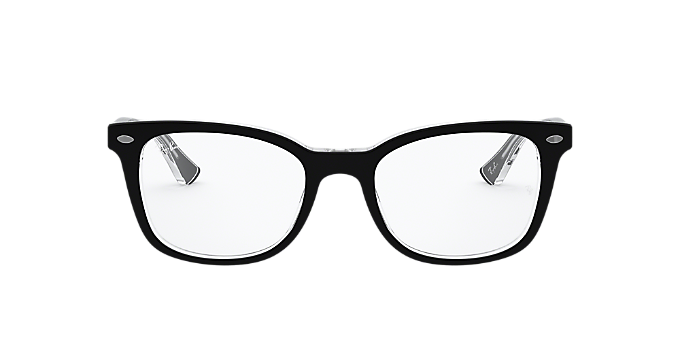 fb53d75b1fd RX5285  Shop Ray-Ban Black Square Eyeglasses at LensCrafters