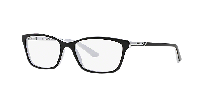 RA7044: Shop Ralph Black Cat Eye Eyeglasses at LensCrafters