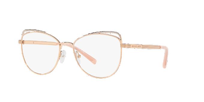 2695c5b1f2d65 MK3025 SANTIAGO  Shop Michael Kors Pink Purple Cat Eye Eyeglasses at ...