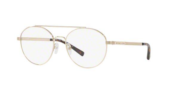 ba8af67c21e8 MK3024 ST. BARTS: Shop Michael Kors Gold Geometric Eyeglasses at  LensCrafters