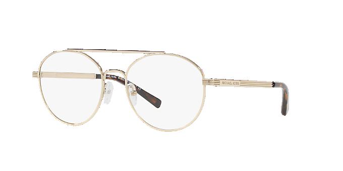87a5c4ccc2 MK3024 ST. BARTS  Shop Michael Kors Gold Geometric Eyeglasses at ...