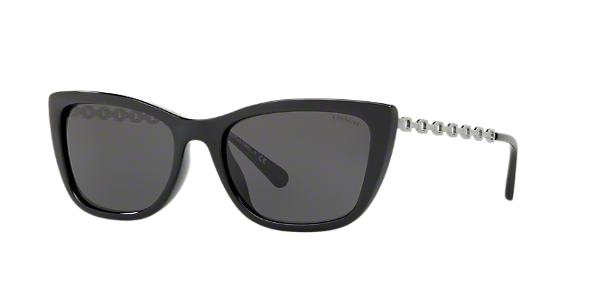 eb9f41a680fd HC8257U 55 L1065: Shop Coach Black Sunglasses at LensCrafters