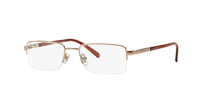 76e4cfc4cdc4 VE 1066: Shop Versace Copper/Bronze Square Eyeglasses at LensCrafters