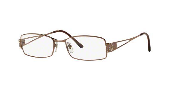 d1632c1d53b3c VE1117B  Shop Versace Copper Bronze Rectangle Eyeglasses at LensCrafters