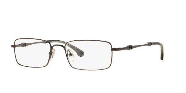 ee8c66c06c1 BB 465  Shop Brooks Brothers Silver Gunmetal Grey Rectangle Eyeglasses at  LensCrafters